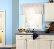 blue walls are rarely used in kitchens