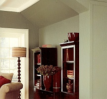 toned down interior color scheme