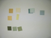 small paint color chips