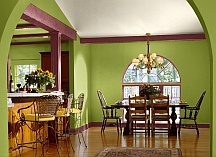 toned down interior paint color scheme