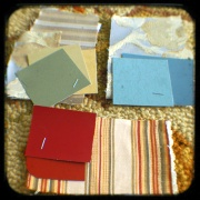 paint colors swatch board