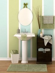 Blue and green color idea for painting a bathroom