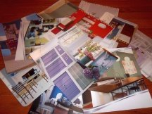 magazine clippings with kitchen paint color ideas