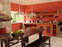 bright orange paint colors for kitchen walls