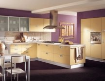 Paint colors for kitchen walls unusual kitchen color ideas for Purple paint in kitchen