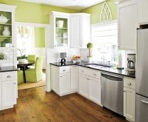 popular kitchen color: yellow-green