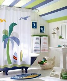 beach inspired bathroom painting idea