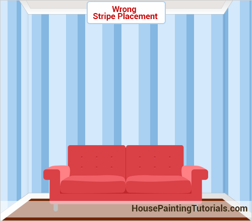 Wrong complex stripe placement on the wall
