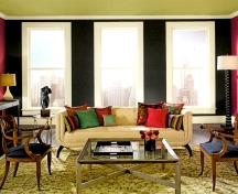 Black walls require lots of natural and artificial light