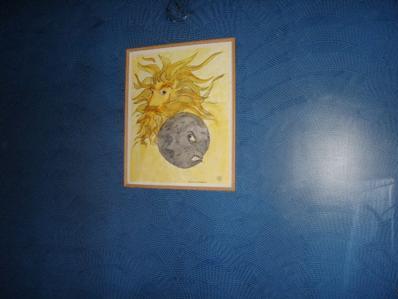 Fan-like designs on my bedroom wall