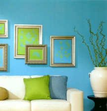 Turquoise blue looks most appropriate in warm climates or well lit rooms