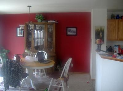 Bold Red Feature Wall