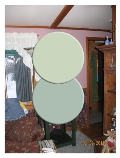 Green paint color combination