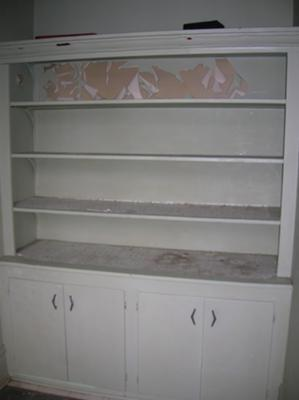 Unpainted butler's pantry