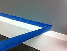 Caulked edges make it easier to cut clean paint lines