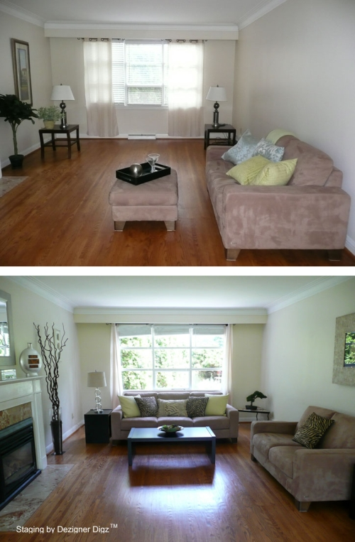 Before and after: family room furniture reorganized for a better design