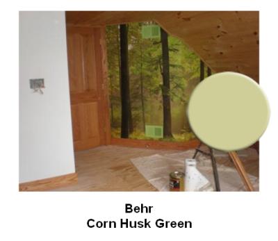 Behr Corn Husk Green paint color