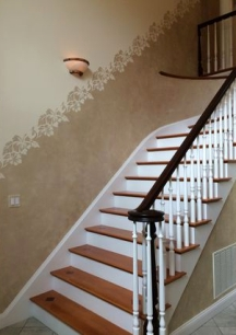 Some faux painting techniques can help break up large walls
