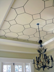 Dome and tray ceilings are meant to be painted decoratively