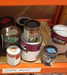 Mistinted designer paint colors are sold as 'Oops' paints