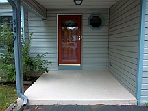 Concrete porch panted with an epoxy product