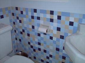 Decorative Tile Imitation Technique