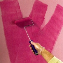 You can apply glaze with a roller or a brush