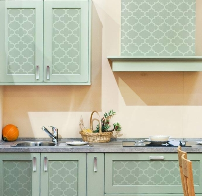 faux painting kitchen tile