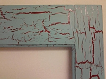 Crackle paint on decor accents