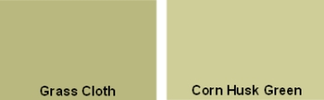 Behr Grass Cloth and Corn Husk Green paint colors