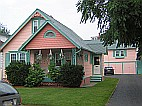 Pink victorian house painting - after