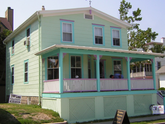 After: house brought to life with paint and color