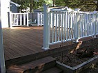 Stained deck floor