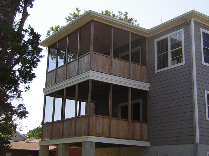 Before: bare wood decks