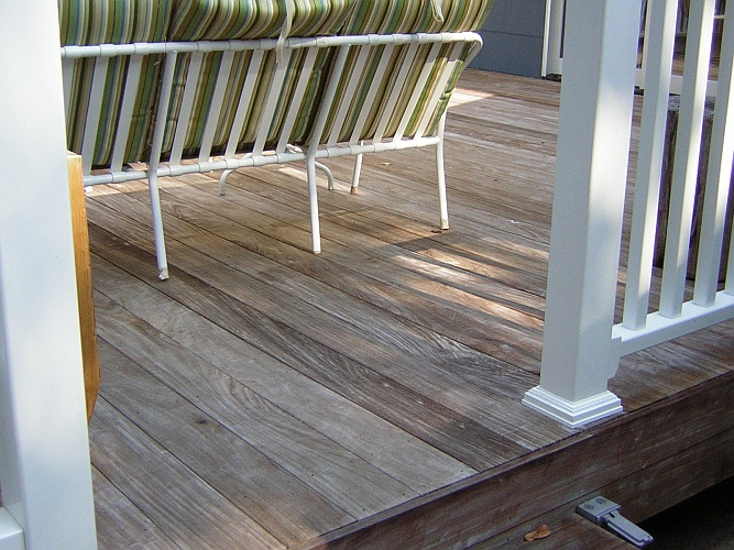 Before: unprotected deck