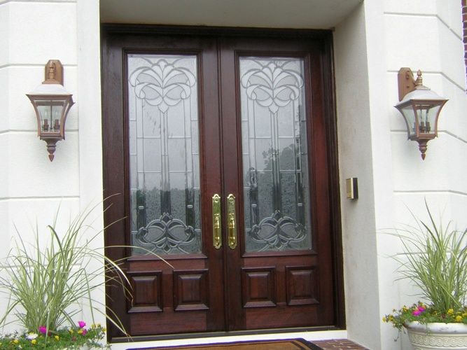 After: stripped and refinished door