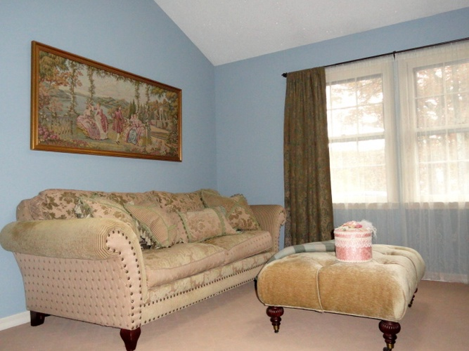 After: new paint color coordinates with decor