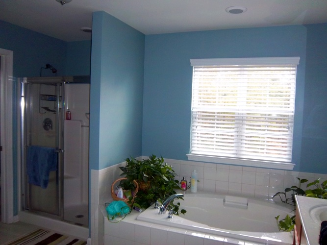 After: blue paint color creates interest