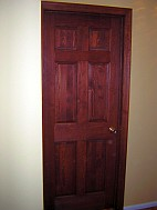 Stained and varnished door