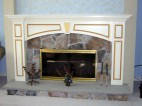 Custom painted fireplace