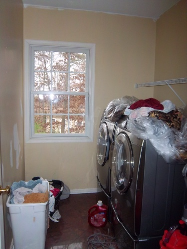 Before: time to repaint laundry room