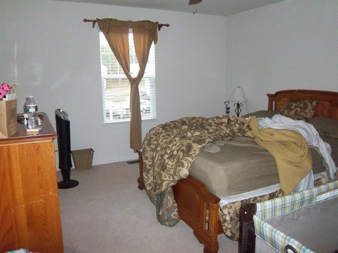 Before: cold looking bedroom walls