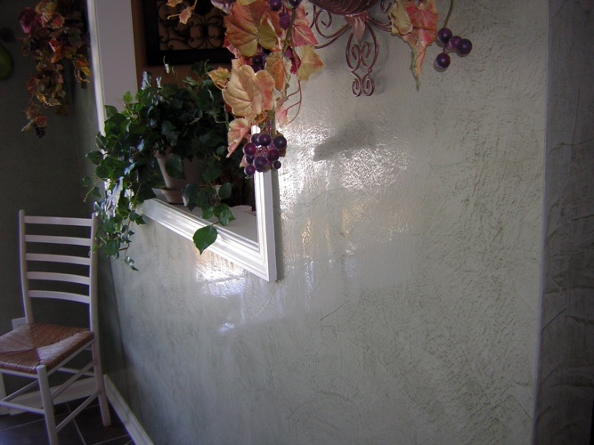 After: polished venetian plaster on walls