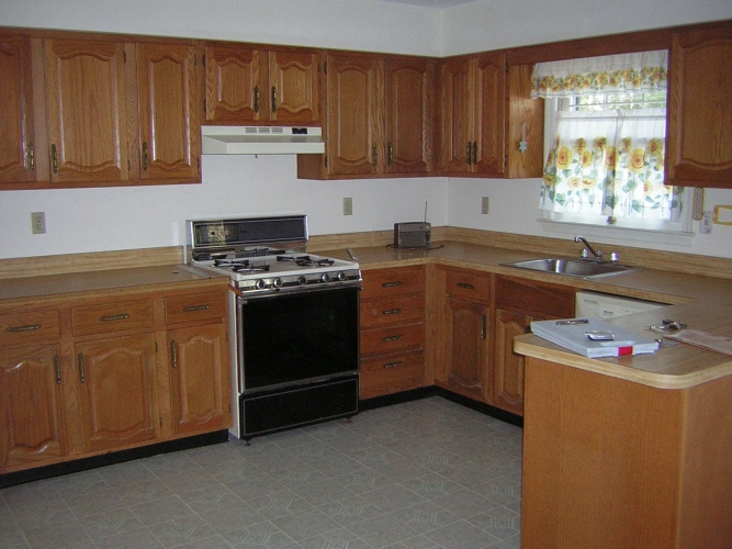 Before: cabinet color is dating kitchen