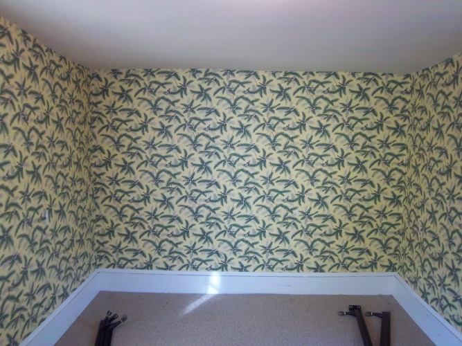 Before: loud wallpaper needs to go