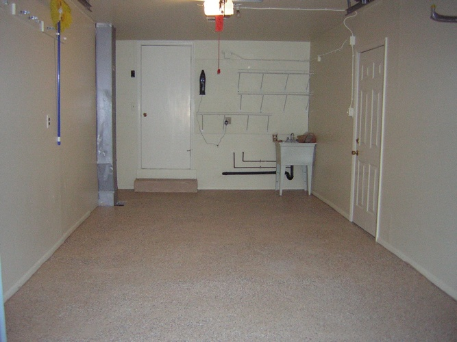 After: beautifully painted floor