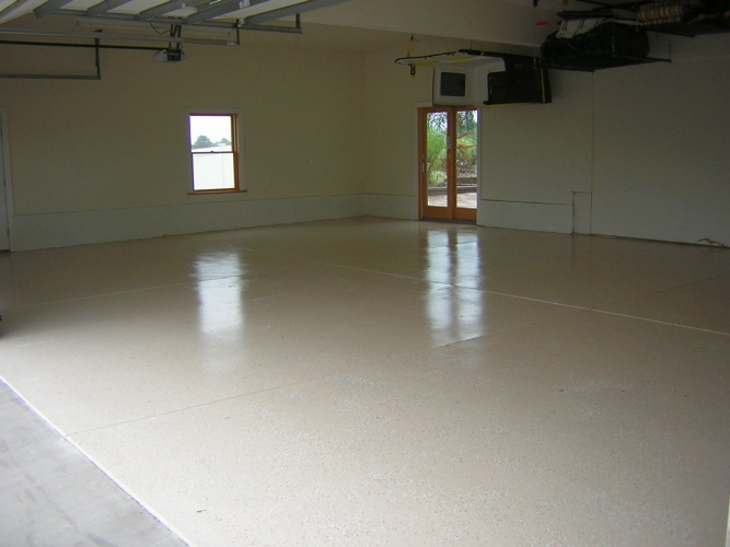 After: painted and protected concrete floor