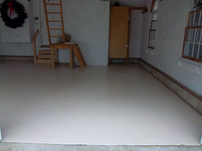 After: painted floor now looks beautiful
