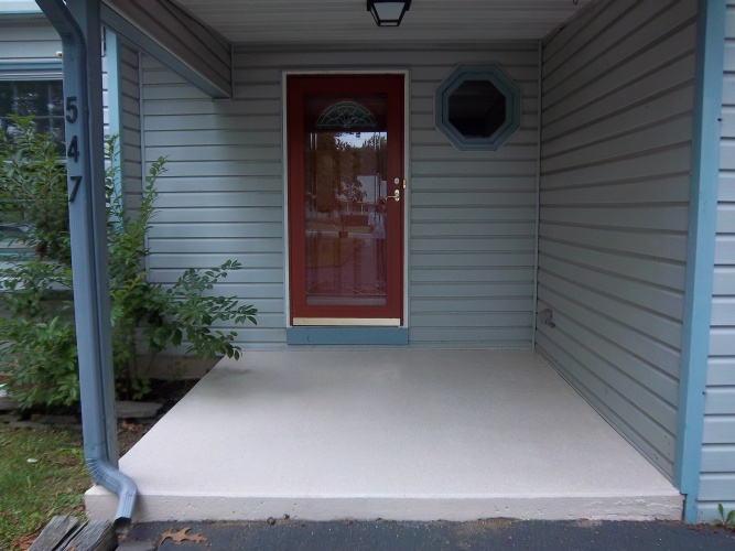 After: painted concrete porch