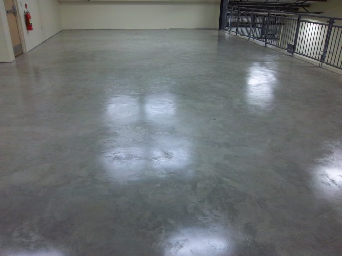 After: sealed floor